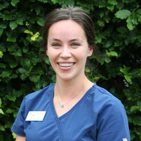 Jil Pratt, student veterinary nurse at Pet Doctors