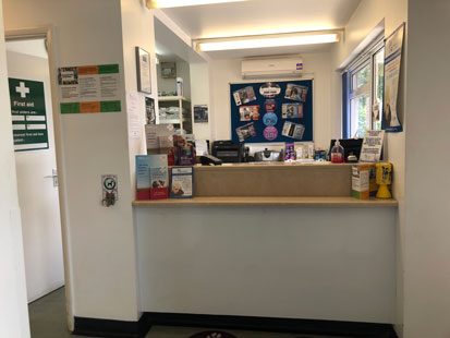 Pet Doctors Godalming reception area