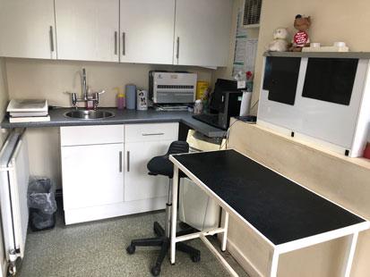 Consultation room at Pet Doctors Elstead