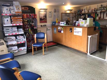 Pet Doctors Elstead reception area