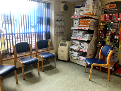 Pet Doctors Elstead waiting area