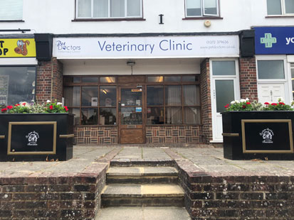 Pet Doctors Fetcham outside of building