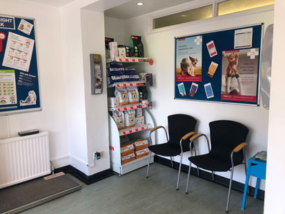Pet Doctors Godalming waiting area