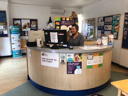 Pet Doctors Guildford reception