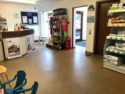 Pet Doctors Shalford reception area