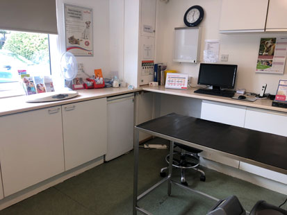 Pet Doctors Tongham consult room